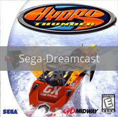Image of Hydro Thunder original video game for Sega Dreamcast classic game system. Rocket City Arcade, Huntsville Al. We ship used video games Nationwide