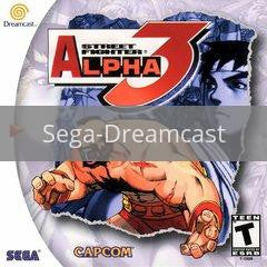 Image of Street Fighter Alpha 3 original video game for Sega Dreamcast classic game system. Rocket City Arcade, Huntsville Al. We ship used video games Nationwide