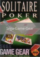 Image of Solitaire Poker original video game for Sega Game Gear classic game system. Rocket City Arcade, Huntsville Al. We ship used video games Nationwide