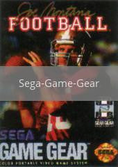 Image of Joe Montana Football original video game for Sega Game Gear classic game system. Rocket City Arcade, Huntsville Al. We ship used video games Nationwide