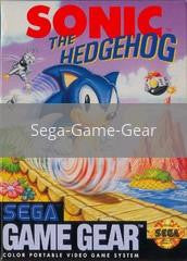 Image of Sonic the Hedgehog original video game for Sega Game Gear classic game system. Rocket City Arcade, Huntsville Al. We ship used video games Nationwide