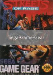 Image of Streets of Rage original video game for Sega Game Gear classic game system. Rocket City Arcade, Huntsville Al. We ship used video games Nationwide