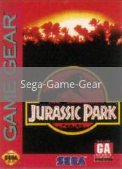 Image of Jurassic Park original video game for Sega Game Gear classic game system. Rocket City Arcade, Huntsville Al. We ship used video games Nationwide