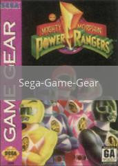 Image of Mighty Morphin Power Rangers original video game for Sega Game Gear classic game system. Rocket City Arcade, Huntsville Al. We ship used video games Nationwide
