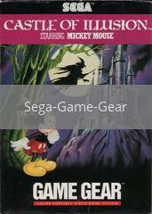 Image of Castle of Illusion Starring Mickey Mouse original video game for Sega Game Gear classic game system. Rocket City Arcade, Huntsville Al. We ship used video games Nationwide