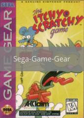 Image of Itchy and Scratchy Game original video game for Sega Game Gear classic game system. Rocket City Arcade, Huntsville Al. We ship used video games Nationwide