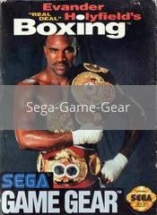 Image of Evander Holyfield's Real Deal Boxing original video game for Sega Game Gear classic game system. Rocket City Arcade, Huntsville Al. We ship used video games Nationwide