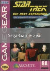 Image of Star Trek the Next Generation Advanced Holodeck Tutorial original video game for Sega Game Gear classic game system. Rocket City Arcade, Huntsville Al. We ship used video games Nationwide