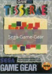 Image of Tesserae original video game for Sega Game Gear classic game system. Rocket City Arcade, Huntsville Al. We ship used video games Nationwide