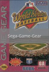 Image of World Series Baseball original video game for Sega Game Gear classic game system. Rocket City Arcade, Huntsville Al. We ship used video games Nationwide