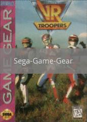 Image of VR Troopers original video game for Sega Game Gear classic game system. Rocket City Arcade, Huntsville Al. We ship used video games Nationwide