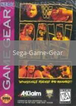 Image of WWF Raw original video game for Sega Game Gear classic game system. Rocket City Arcade, Huntsville Al. We ship used video games Nationwide