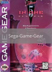Image of 5 in 1 Fun Pak original video game for Sega Game Gear classic game system. Rocket City Arcade, Huntsville Al. We ship used video games Nationwide