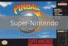 Image of Pinball Dreams original video game for Super Nintendo classic game system. Rocket City Arcade, Huntsville Al. We ship used video games Nationwide