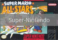 Image of Super Mario All-stars and Super Mario World original video game for Super Nintendo classic game system. Rocket City Arcade, Huntsville Al. We ship used video games Nationwide