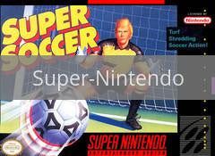 Image of Super Soccer original video game for Super Nintendo classic game system. Rocket City Arcade, Huntsville Al. We ship used video games Nationwide