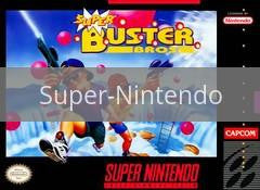 Image of Super Buster Bros. original video game for Super Nintendo classic game system. Rocket City Arcade, Huntsville Al. We ship used video games Nationwide