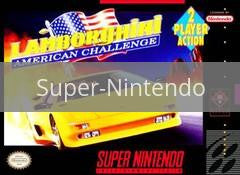 Image of Lamborghini American Challenge original video game for Super Nintendo classic game system. Rocket City Arcade, Huntsville Al. We ship used video games Nationwide