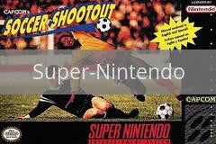 Image of Capcom's Soccer Shootout original video game for Super Nintendo classic game system. Rocket City Arcade, Huntsville Al. We ship used video games Nationwide