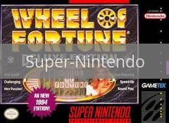 Image of Wheel of Fortune Deluxe Edition original video game for Super Nintendo classic game system. Rocket City Arcade, Huntsville Al. We ship used video games Nationwide