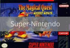 Image of Magical Quest starring Mickey Mouse original video game for Super Nintendo classic game system. Rocket City Arcade, Huntsville Al. We ship used video games Nationwide
