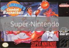 Image of Bill Laimbeer's Combat Basketball original video game for Super Nintendo classic game system. Rocket City Arcade, Huntsville Al. We ship used video games Nationwide