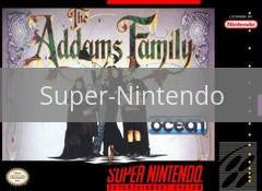 Image of The Addams Family original video game for Super Nintendo classic game system. Rocket City Arcade, Huntsville Al. We ship used video games Nationwide