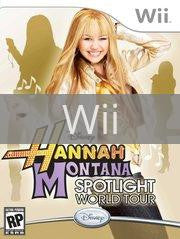 Image of Hannah Montana Spotlight World Tour original video game for Wii classic game system. Rocket City Arcade, Huntsville Al. We ship used video games Nationwide