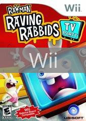 Image of Rayman Raving Rabbids TV Party original video game for Wii classic game system. Rocket City Arcade, Huntsville Al. We ship used video games Nationwide
