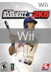Image of Major League Baseball 2K8 original video game for Wii classic game system. Rocket City Arcade, Huntsville Al. We ship used video games Nationwide