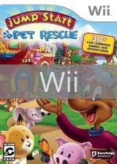 Image of JumpStart Pet Rescue original video game for Wii classic game system. Rocket City Arcade, Huntsville Al. We ship used video games Nationwide