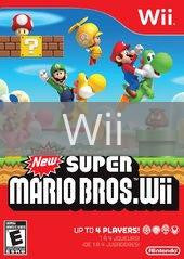Image of New Super Mario Bros. Wii original video game for Wii classic game system. Rocket City Arcade, Huntsville Al. We ship used video games Nationwide