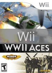 Image of WWII Aces original video game for Wii classic game system. Rocket City Arcade, Huntsville Al. We ship used video games Nationwide