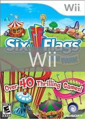 Image of Six Flags Fun Park original video game for Wii classic game system. Rocket City Arcade, Huntsville Al. We ship used video games Nationwide