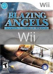 Image of Blazing Angels Squadrons of WWII original video game for Wii classic game system. Rocket City Arcade, Huntsville Al. We ship used video games Nationwide