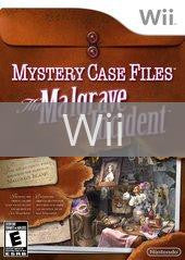 Image of Mystery Case Files: The Malgrave Incident original video game for Wii classic game system. Rocket City Arcade, Huntsville Al. We ship used video games Nationwide