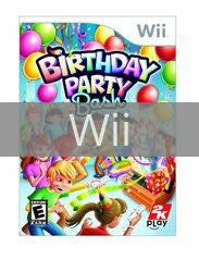 Image of Birthday Party Bash original video game for Wii classic game system. Rocket City Arcade, Huntsville Al. We ship used video games Nationwide