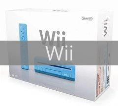 Image of Blue Nintendo Wii System original video game for Wii classic game system. Rocket City Arcade, Huntsville Al. We ship used video games Nationwide