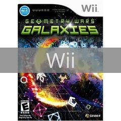 Image of Geometry Wars Galaxies original video game for Wii classic game system. Rocket City Arcade, Huntsville Al. We ship used video games Nationwide