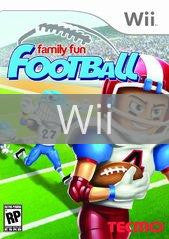 Image of Family Fun Football original video game for Wii classic game system. Rocket City Arcade, Huntsville Al. We ship used video games Nationwide