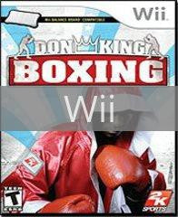 Image of Don King Boxing original video game for Wii classic game system. Rocket City Arcade, Huntsville Al. We ship used video games Nationwide