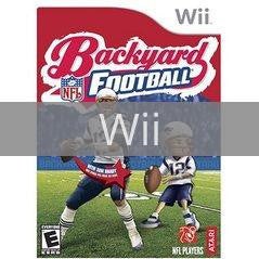 Image of Backyard Football original video game for Wii classic game system. Rocket City Arcade, Huntsville Al. We ship used video games Nationwide