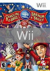 Image of Ringling Bros. and Barnum & Bailey Circus original video game for Wii classic game system. Rocket City Arcade, Huntsville Al. We ship used video games Nationwide