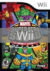 Image of Marvel Super Hero Squad: The Infinity Gauntlet original video game for Wii classic game system. Rocket City Arcade, Huntsville Al. We ship used video games Nationwide