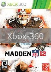Image of Madden NFL 12 original video game for Xbox 360 classic game system. Rocket City Arcade, Huntsville Al. We ship used video games Nationwide