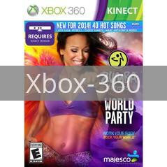 Image of Zumba Fitness World Party original video game for Xbox 360 classic game system. Rocket City Arcade, Huntsville Al. We ship used video games Nationwide