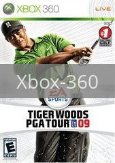 Image of Tiger Woods 2009 original video game for Xbox 360 classic game system. Rocket City Arcade, Huntsville Al. We ship used video games Nationwide
