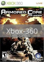 Image of Armored Core For Answer original video game for Xbox 360 classic game system. Rocket City Arcade, Huntsville Al. We ship used video games Nationwide