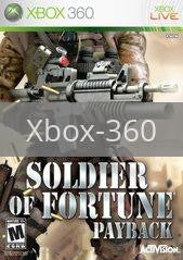 Image of Soldier Of Fortune Payback original video game for Xbox 360 classic game system. Rocket City Arcade, Huntsville Al. We ship used video games Nationwide