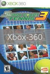 Image of Smash Court Tennis 3 original video game for Xbox 360 classic game system. Rocket City Arcade, Huntsville Al. We ship used video games Nationwide